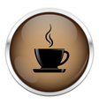 Brown coffee icon vector image