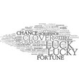 luck word cloud concept vector image