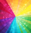 Rainbow bright background with rays vector image vector image