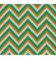 Retro Style Seamless Knitted Pattern vector image