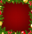 Christmas Fir Tree Border Card vector image vector image