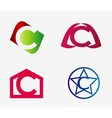 set of abstract icons based on the letter c vector image