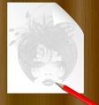 pencil dame vector image vector image