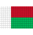 The mosaic flag of Madagascar vector image