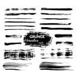 Grunge brushes set vector image