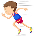 Man runner running in race vector image