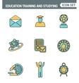 Icons line set premium quality of basic education vector image