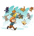 A rain with cats and dogs vector image