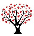 Hearts tree vector image