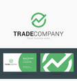 Logo and business card template for trade company vector image