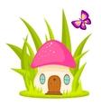 Mushroom house cartoon vector image