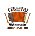 Music festival isolated label emblem vector image