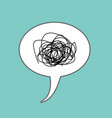 tangled thoughts comic speech bubble isolated vector image