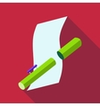 Tube for paper icon flat style vector image