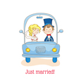 Wedding Invitation Card - Just Married vector image