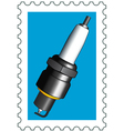 Sparking plug stamp vector image