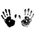 Black Hand Prints vector image