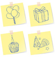 Birthday party sketches vector image
