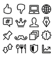 Web menu navigation line icons - social media vector image