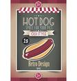 Vintage HOT DOG poster template vector image