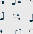 Music note sign icon Musical symbol Seamless vector image