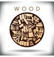 Wood Bucket vector image vector image