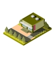isolated isometric shop building icon EPS vector image