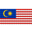 The mosaic flag of Malaysia vector image