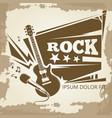 rock music vintage emblem design vector image