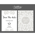 Save the date card wedding invitation vector image