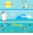 Summer holiday banners vector image