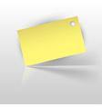 tag yellow vector image