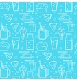Dairy seamless pattern in line style design vector image
