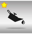 engine oil black icon button logo symbol vector image