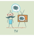 person feels the same way as TV vector image