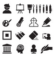artist painting icons set vector image