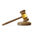 judicial or auction gavel vector image vector image