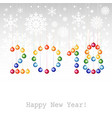 2018 happy new year greeting card or background vector image