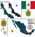 Map of Veracruz vector image