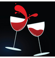 wine glasses vector image vector image