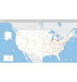 High detailed USA road map vector image