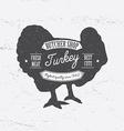 Butcher Shop Logo template retro style Vintage vector image
