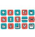 doodle icon set health vector image
