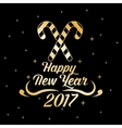 happy new year 2017 greeting card gold letter vector image