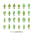 Isometric color tree set to create a vector image