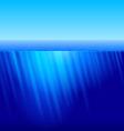 Rays of sun underwater vector image