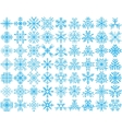 Set of 63 snowflakes vector image