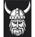 viking mascot cartoon with horned helmet vector image
