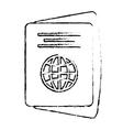 passport identification tourist sketch vector image