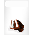 A Retro Accordion with A White Banner vector image